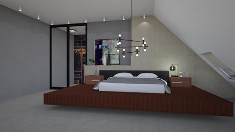 Andrew - Minimal - Bedroom  - by Claudia Correia