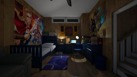 Basement Bedroom Night - Bedroom  - by SammyJPili