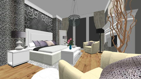 Glam - Glamour - Bedroom - by maslow12