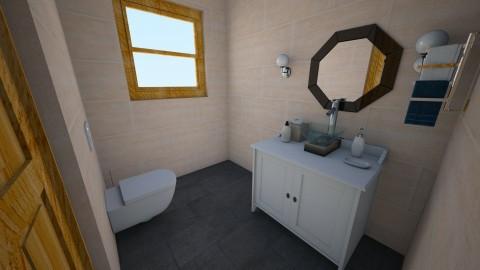 Powder room - Minimal - Bathroom  - by yendreamhouse