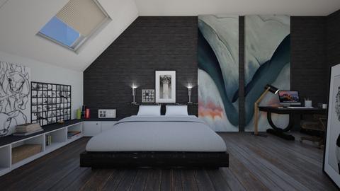 OKeeffe Bedroom - Bedroom - by ElleP