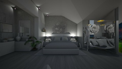 White bedroom  - by Gre_Taa