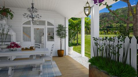 Summer Porch - Garden  - by Nicky West