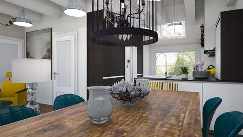 BlankKitchenLivingDining2 - Eclectic - Kitchen  - by hauser