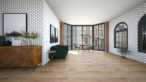 city_apartment_contest - Living room  - by Happyspaniel
