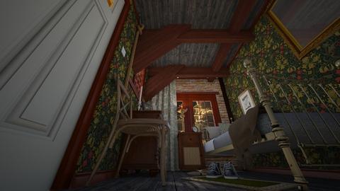 Tiny Attic Bedroom - Vintage - Bedroom  - by HenkRetro1960
