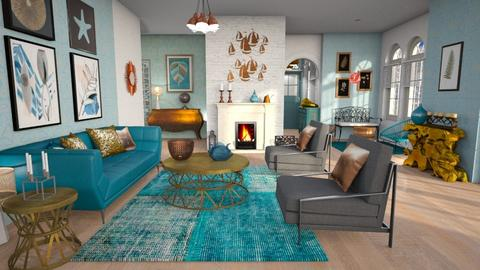 metal and turquoise llivi - Living room - by Moonpearl