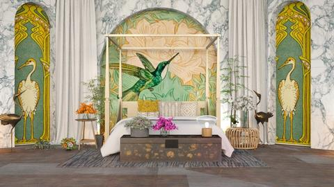 Art Nouveau - Bedroom  - by Parakeet