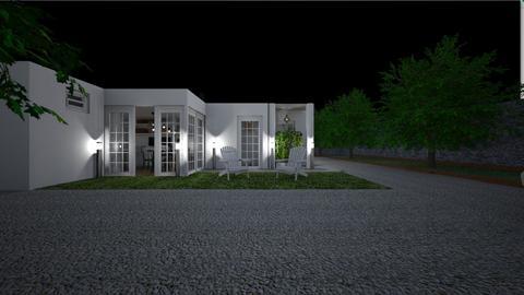 Home at night2 - Garden  - by lovasemoke