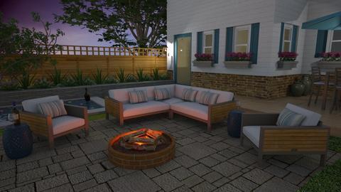 Tranquil Backyard - Garden  - by LizyD