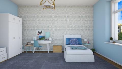 Girl in blue bedroom - Modern - Bedroom  - by martinabb
