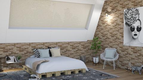 bedroom attic - Bedroom  - by irisrmks