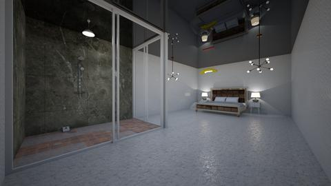 Greek With Shower - Modern - Bedroom  - by Charginghawks