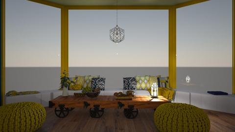 Winter cosy vibes yellow - Living room  - by Doraisthe_nameofmydoggo12345