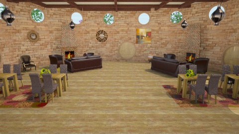 Huffllepuff Common Room - Country - Living room  - by HGranger2