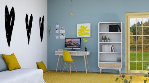 Playful Office  - Minimal - Office  - by n i n i