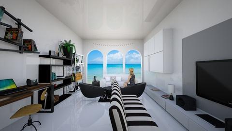 Ocean View Living Room - Modern - Living room - by OkinawaLook