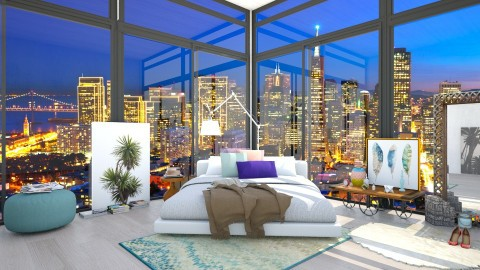 Goodnight San Francisco - Modern - Bedroom  - by creativediva