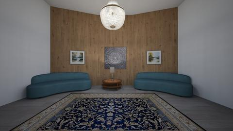 Wooden wall living room - Living room  - by Idkwhy