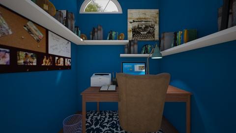 Blue Study - Office  - by SammyJPili