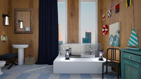 Nautical Bathroom - by xadieee