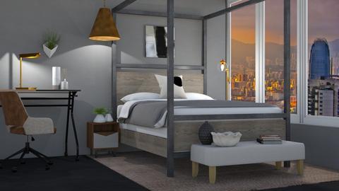 warm bedroom - Modern - Bedroom  - by moomusr