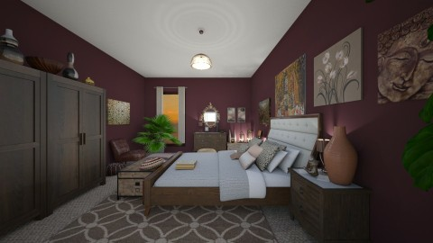 WineSunset - Classic - Bedroom - by tena9