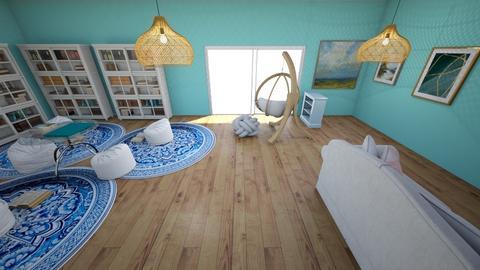 Livingroom Library - Living room  - by Maireni B Petaluma