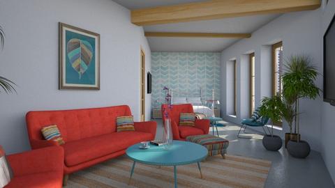 elementos azuis - Living room - by Milena_