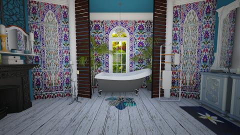 blue boho - Classic - Bathroom  - by donella