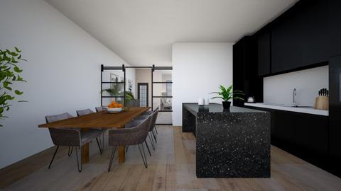 keuken eiland 1 ruimte - Kitchen  - by Claradanixx