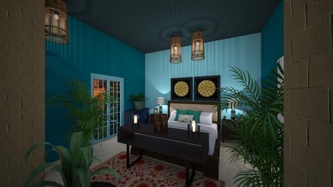 Urban Jungle Bedroom - by dedraekelly