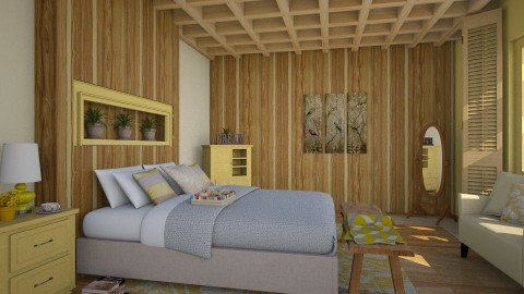 Mellow Yellow - Country - Bedroom  - by Kathran
