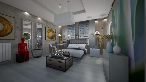 Modern_BedRoom_Interior - Modern - Bedroom  - by Nikos Tsokos