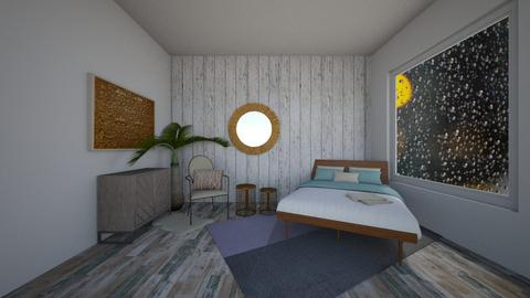 turquoise gold room - Bedroom - by dia17a