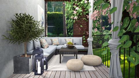 Summer Wooden Porch - by MyDesignIdeas