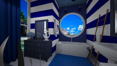 Nautical Bathroom - Modern - Bathroom  - by nkanyezi