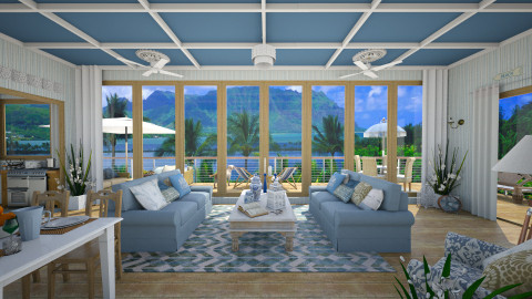 Design 33 Blue Hawaiian - Living room  - by Daisy320