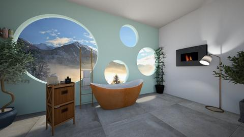 circle bath - Modern - Bathroom  - by lemon boi