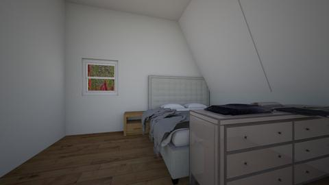 attic design - Global - Bedroom - by wolfiewolf123