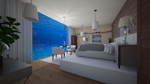 Underwater Bedroom - Modern - Bedroom  - by Eli_Anna