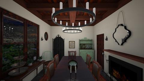Desert Nights - Rustic - Dining room - by babbjiii