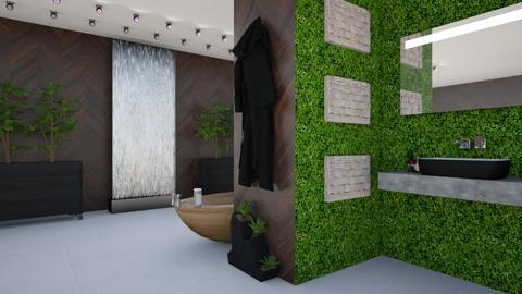 Jungle Bathroom - Modern - Bathroom  - by designcat31
