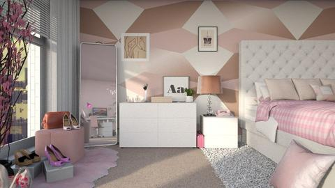 Female bedroom - Bedroom  - by ginamelia22