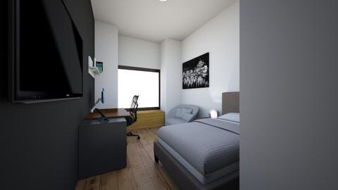 Room draft 1 - Minimal - Bedroom - by chantinbye