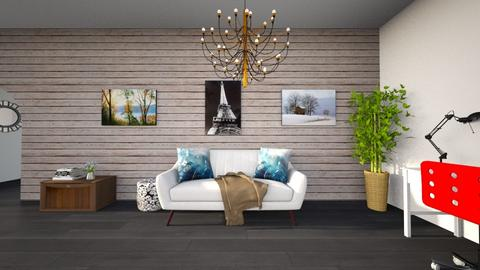 living - Retro - Living room  - by The vamps lover