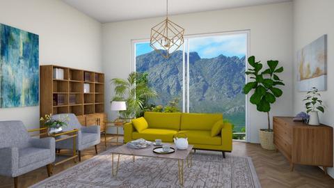 little bit of blue - Living room - by dorota_k