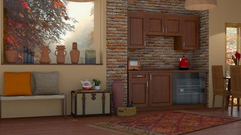 Autumn Pattern Kitchen - by  Daizydesign