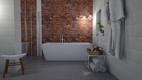 Brick wall - Bathroom  - by Tuija