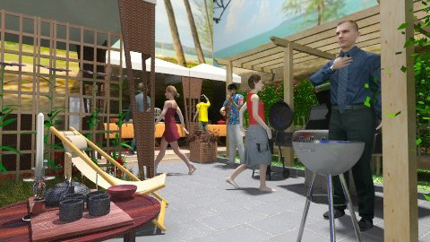 Barbeque Party - Modern - Garden  - by Ulie